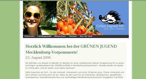 Screenshot Grüne Jugend Mecklenburg-Vorpommern